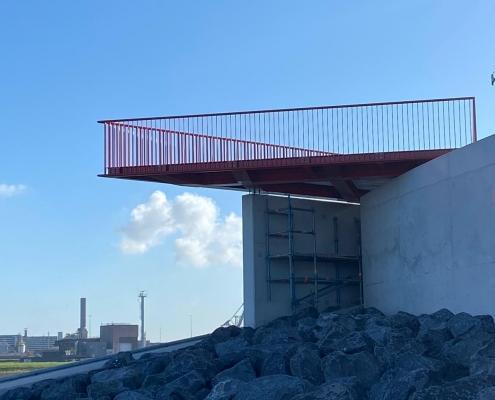 Lookout platform sea locks IJmuiden