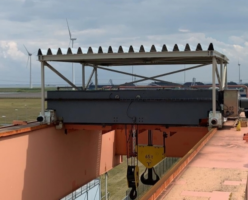 Engineering en realisatie overkapping Eemshaven