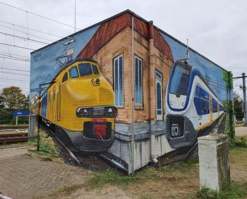 muurschildering relaishuis Watergraafsmeer