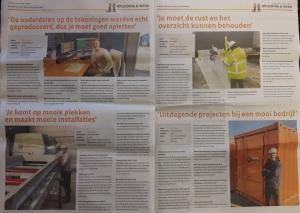 Medewerkers Anton Groep in de Kogge krant