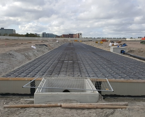 Waterkelder, Waterblock, betonbouw, hemelwaterafvoer, watermanagement, schiphol