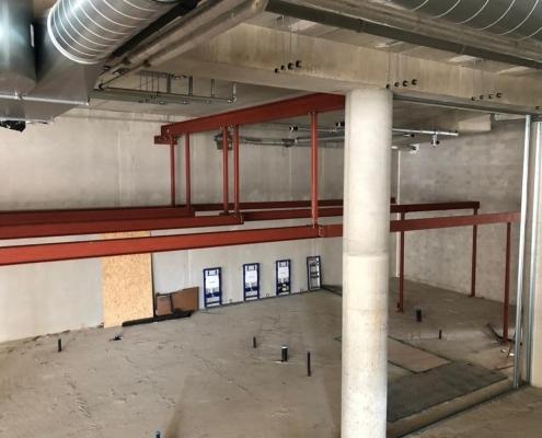 Verlaagd plafond - stalen constructie - Anton Constructiewerken