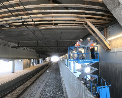 Station Utrecht Centraal plafond vervangen - Anton Bouw & Betontechniek