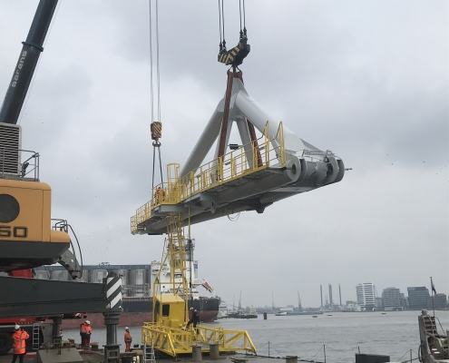 Modifications for floating crane