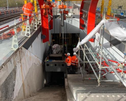 Replacement escalator Diemen-Zuid Railstation