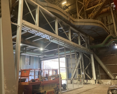 Protective walls for Dutch steel supplier
