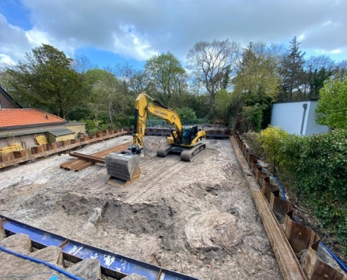 Construction pit for residential complex Bergen