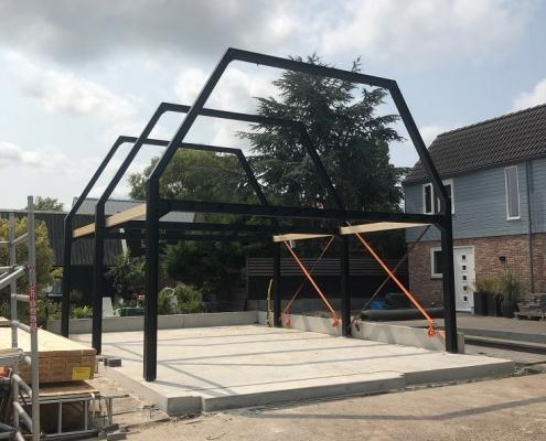 Steel construction for barn Grootebroek