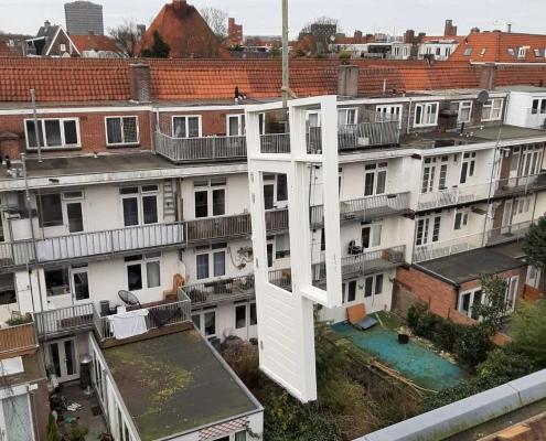 Housing transformation on Admiralengracht Amsterdam